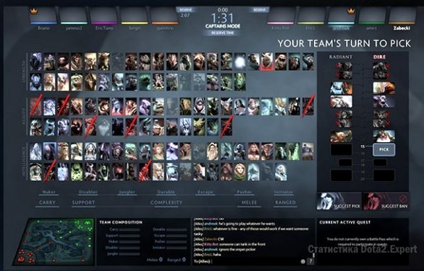Новый интерфейс выбора героев в патче 7 03