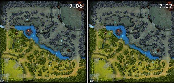 Изменения карты 7.07 патча в Dota 2