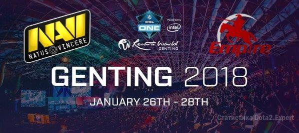Team Empire Navi прогноз на 22 декабря 2017 в рамках квалификации ESL One 2018