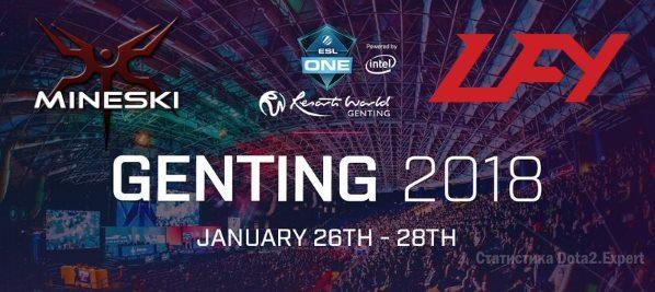 Mineski  LFY, прогноз ESL One Genting Minor, 24.01.2018